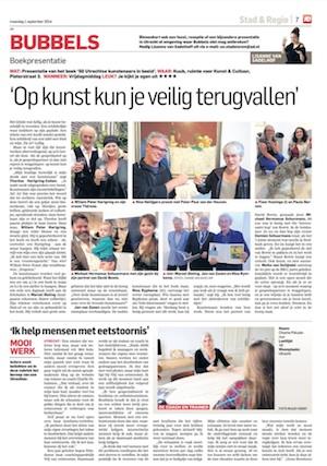Artikel Vrij van Eetstoornis - Algemeen Dagblad - Utrecht Nieuwsblad 20140901 klein