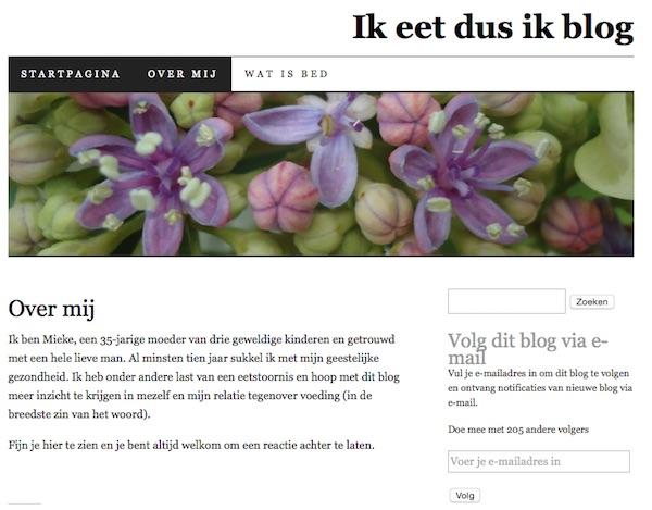 Ik eet dus ik blog