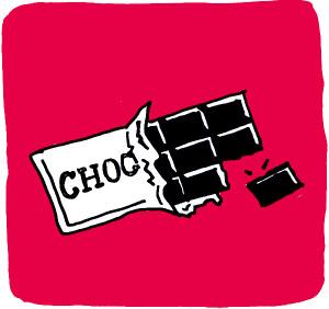 Stukje chocola
