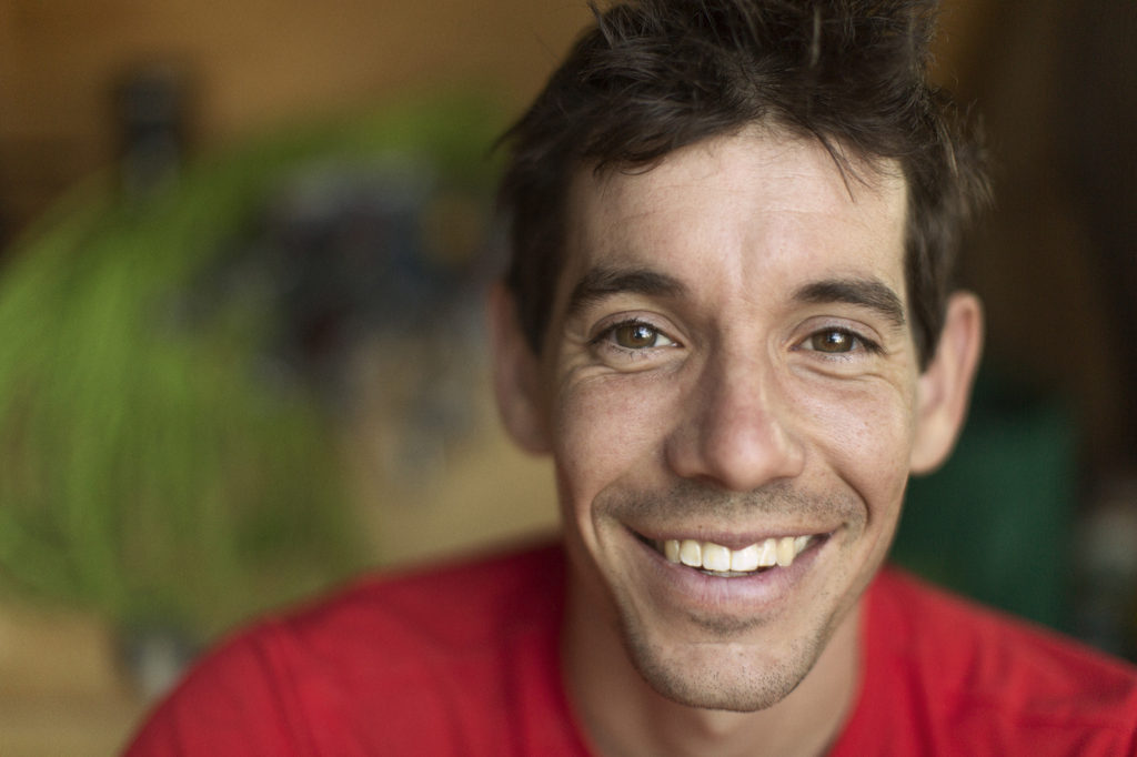 Free Solo big smile Alex Honnold