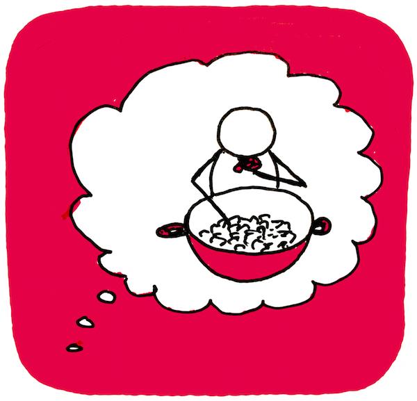 Deze afbeelding laat zien hoe angst voor eetbuien kan spelen - vrijvaneetstoornis