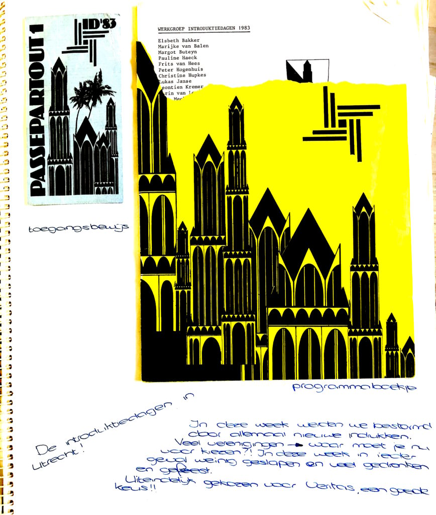 Afbeelding plakboek Charlie Paludanus Introweken UITweek 1983_vrijvaneetstoornis