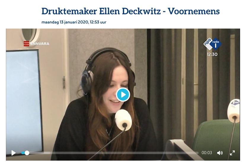 Afbeelding Ellen Deckwitz column radio 1 goede voornemens